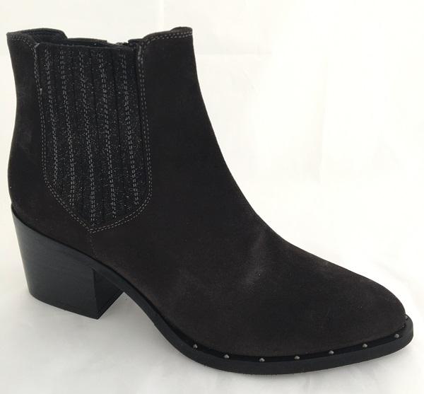 Kanna Damen Stiefelette im Western Stil dunkel Braun