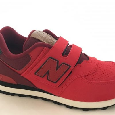 New Balance 574 Kinder Sneaker Rot