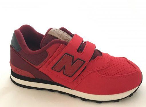 New Balance 574 Kinder Sneaker Rot