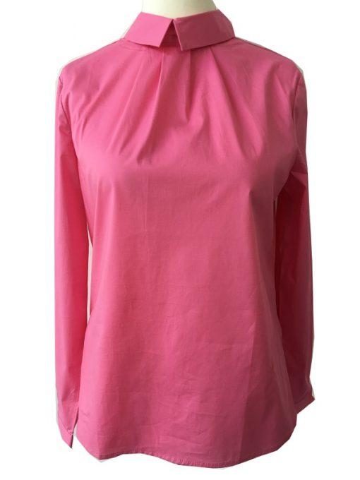 Emily van den Bergh Damen Bluse mit Bubikragen Pink