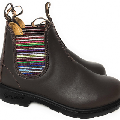Blundstone Kids 1413 Chelsea Boot Braun Leder Striped
