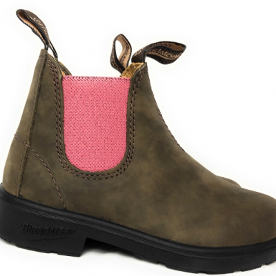 Blundstone Kids 1438 Chelsea Boot Rustic Brown Pale Pink